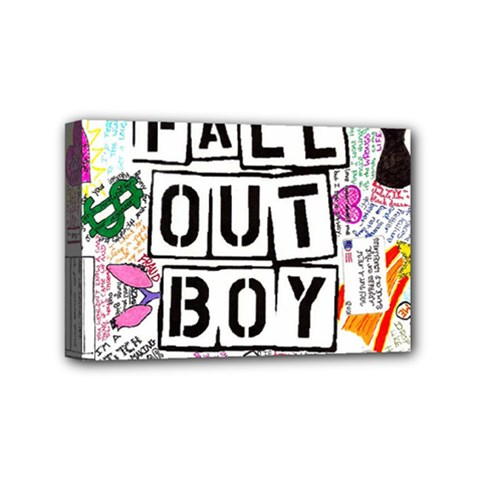 Fall Out Boy Lyric Art Mini Canvas 6  X 4  by Samandel