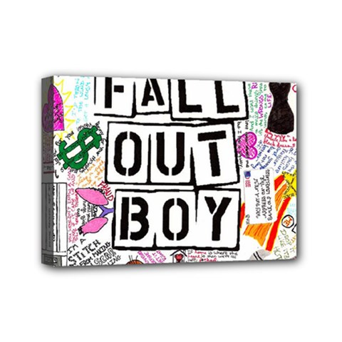 Fall Out Boy Lyric Art Mini Canvas 7  X 5  by Samandel