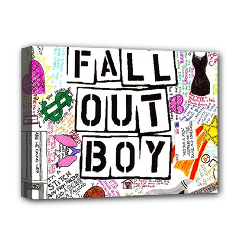 Fall Out Boy Lyric Art Deluxe Canvas 16  X 12   by Samandel