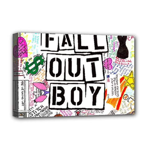 Fall Out Boy Lyric Art Deluxe Canvas 18  X 12   by Samandel