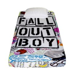 Fall Out Boy Lyric Art Fitted Sheet (single Size) by Samandel