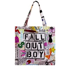 Fall Out Boy Lyric Art Zipper Grocery Tote Bag by Samandel