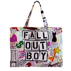 Fall Out Boy Lyric Art Zipper Mini Tote Bag by Samandel