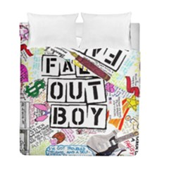 Fall Out Boy Lyric Art Duvet Cover Double Side (full/ Double Size) by Samandel