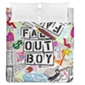 Fall Out Boy Lyric Art Duvet Cover Double Side (Queen Size) View1