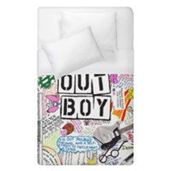 Fall Out Boy Lyric Art Duvet Cover (single Size) by Samandel
