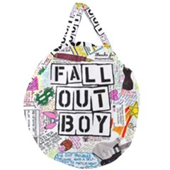 Fall Out Boy Lyric Art Giant Round Zipper Tote by Samandel