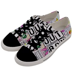 Fall Out Boy Lyric Art Men s Low Top Canvas Sneakers by Samandel