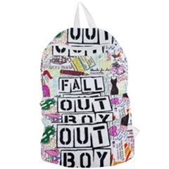Fall Out Boy Lyric Art Foldable Lightweight Backpack by Samandel