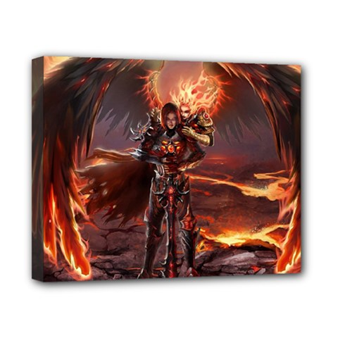 Fantasy Art Fire Heroes Heroes Of Might And Magic Heroes Of Might And Magic Vi Knights Magic Repost Canvas 10  X 8  by Samandel