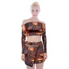 Fantasy Art Fire Heroes Heroes Of Might And Magic Heroes Of Might And Magic Vi Knights Magic Repost Off Shoulder Top With Mini Skirt Set by Samandel