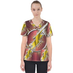 Flash Flashy Logo Scrub Top
