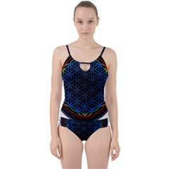 Flower Of Life Cut Out Top Tankini Set by Samandel