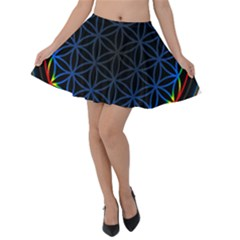 Flower Of Life Velvet Skater Skirt