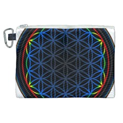 Flower Of Life Canvas Cosmetic Bag (xl)