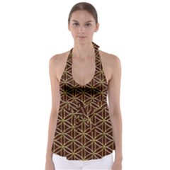 Flower Of Life Babydoll Tankini Top