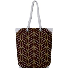 Flower Of Life Full Print Rope Handle Tote (small)