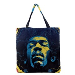 Gabz Jimi Hendrix Voodoo Child Poster Release From Dark Hall Mansion Grocery Tote Bag by Samandel