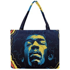 Gabz Jimi Hendrix Voodoo Child Poster Release From Dark Hall Mansion Mini Tote Bag by Samandel