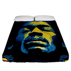 Gabz Jimi Hendrix Voodoo Child Poster Release From Dark Hall Mansion Fitted Sheet (california King Size)