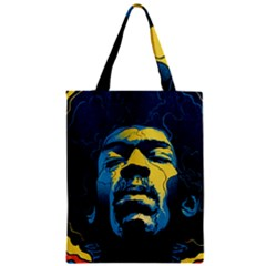 Gabz Jimi Hendrix Voodoo Child Poster Release From Dark Hall Mansion Zipper Classic Tote Bag by Samandel