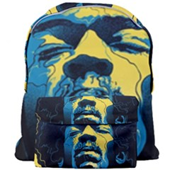 Gabz Jimi Hendrix Voodoo Child Poster Release From Dark Hall Mansion Giant Full Print Backpack by Samandel