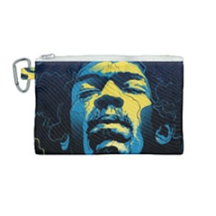 Gabz Jimi Hendrix Voodoo Child Poster Release From Dark Hall Mansion Canvas Cosmetic Bag (medium) by Samandel