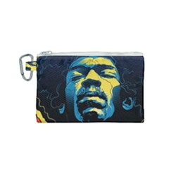 Gabz Jimi Hendrix Voodoo Child Poster Release From Dark Hall Mansion Canvas Cosmetic Bag (small) by Samandel