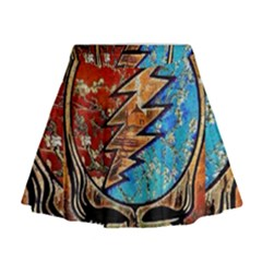 Grateful Dead Rock Band Mini Flare Skirt