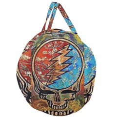 Grateful Dead Rock Band Giant Round Zipper Tote