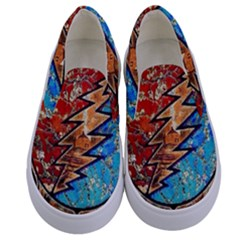 Grateful Dead Rock Band Kids  Canvas Slip Ons