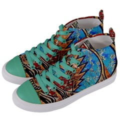 Grateful Dead Rock Band Women s Mid Top Canvas Sneakers by Samandel