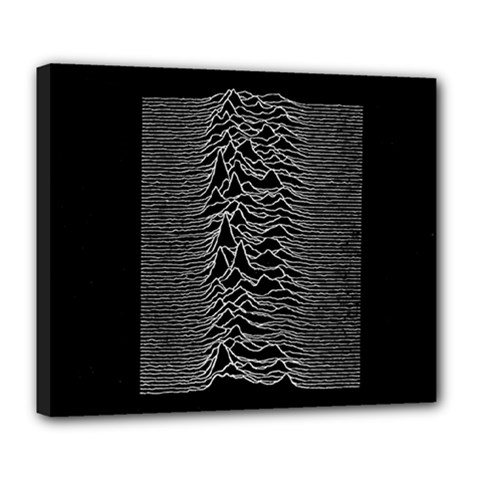 Grayscale Joy Division Graph Unknown Pleasures Deluxe Canvas 24  X 20