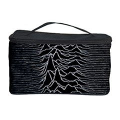 Grayscale Joy Division Graph Unknown Pleasures Cosmetic Storage Case by Samandel