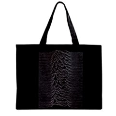 Grayscale Joy Division Graph Unknown Pleasures Zipper Mini Tote Bag by Samandel
