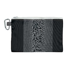 Grayscale Joy Division Graph Unknown Pleasures Canvas Cosmetic Bag (large) by Samandel