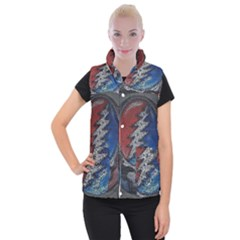 Grateful Dead Logo Women s Button Up Vest by Samandel