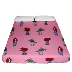 Hotline Bling Pattern Fitted Sheet (king Size) by Samandel