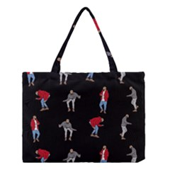Hotline Bling Black Background Medium Tote Bag by Samandel
