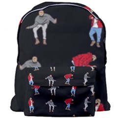 Hotline Bling Black Background Giant Full Print Backpack