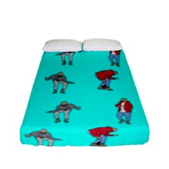 Hotline Bling Blue Background Fitted Sheet (full/ Double Size) by Samandel