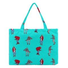 Hotline Bling Blue Background Medium Tote Bag by Samandel