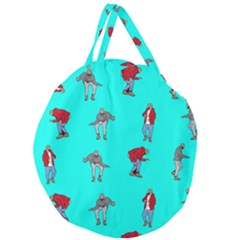 Hotline Bling Blue Background Giant Round Zipper Tote