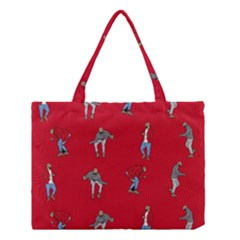 Hotline Bling Red Background Medium Tote Bag by Samandel