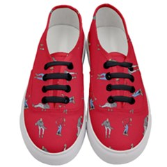 Hotline Bling Red Background Women s Classic Low Top Sneakers