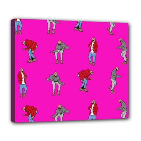 Hotline Bling Pink Background Deluxe Canvas 24  X 20   by Samandel