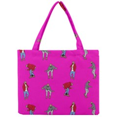 Hotline Bling Pink Background Mini Tote Bag by Samandel
