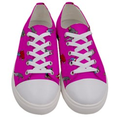 Hotline Bling Pink Background Women s Low Top Canvas Sneakers