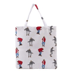 Hotline Bling White Background Grocery Tote Bag by Samandel