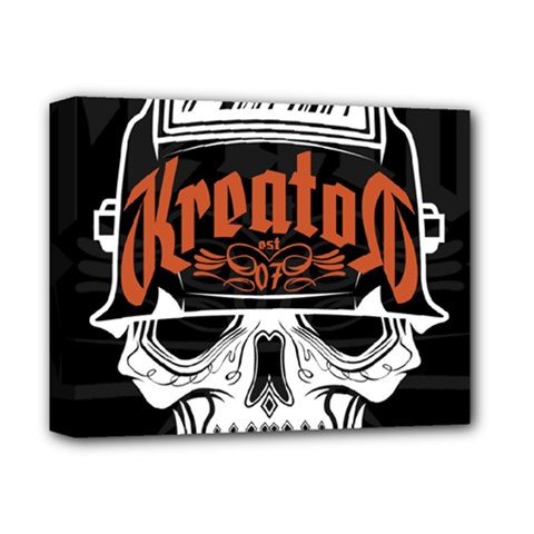 Kreator Thrash Metal Heavy Hard Rock Skull Skulls Deluxe Canvas 14  X 11